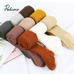 2020 Baby Autumn Winter Tights Hot Baby Toddler Kid Girl Ribbed Stockings Cotton Warm Pantyhose Solid Candy Color Tight 0-4Years
