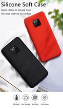 Oryginalny płynny silikonowy futerał na telefon do Huawei P30 P20 P40 Mate 20 30 Lite Pro P inteligentny 2019 luksusowy miękki pokrowiec Protector villus tanie tanio jiansu Pół-owinięte Przypadku P20 Lite Matowy Zwykły Odporna na brud Anti-knock For Huawei Liquid silicone phone case