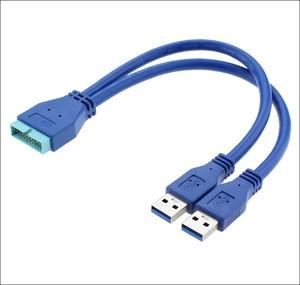 Прямая поставка с фабрики USB3.0 кабель для передачи данных 2 AM-20P высокоскоростная проводка обратного расширения 20P интерфейс 0,25 метров