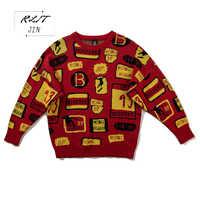 RLJT. JIN 2019 новый высококачественный мужской свитер с высоким воротником с необычным рисунком Фламинго с длинным рукавом мужские пуловеры мог...