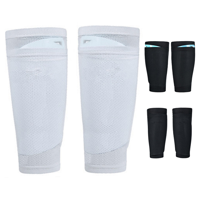 1x Mens Boys Soccer Shin Pads Holder Instep Foot Socks Guard Lock Sleeves Team Training Sports Football Basketball Supplies Leg