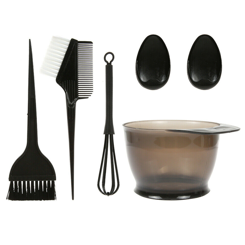 5PCS/Set Hair Dye Styling Accessories Plastic Hair Color Dye Bowl Comb Brushes Ear Caps Hair Coloring Tint Tools