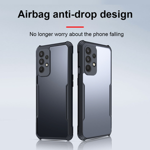 Image 2 - Pour Samsung Galaxy A32 4G 5G Antichoc de Luxe Cadre Clair Étui de Téléphone Pour Samsung A32 32 a32 4g 5g Transparent Airbag Arrière