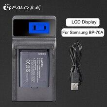 פאלו מצלמה סוללה מטען עם LCD תצוגה עבור סמסונג BP 70A bp 70a bp70a BP70a PL120 PL121 PL170 PL171 PL200 ST76