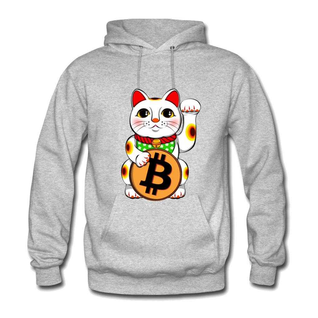 Bitcoin Lucky  Maneki Neko Kanye Mens West Sweat Homme Hoodies Men Sweatshirt Hoodies Hip Hop Streetwear Hoody Hoodie S-XXL 1