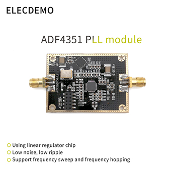 ADF4351 Module Development Board RF Signal Source Signal Source Phase-Locked Loop PLL Supports Sweep Frequency Hopping 35m 4 4ghz phase locked loop pll rf signal source adf4351 generation module development board
