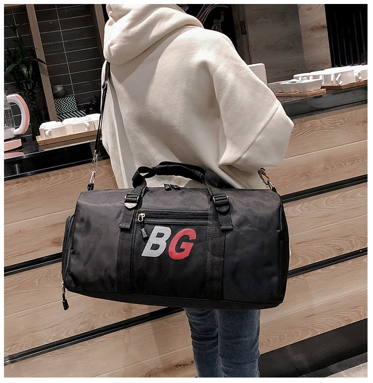 Fitness Custom Bag New Short-distance Travel Bag Large Capacity Fashion Luggage Men's Hand Training