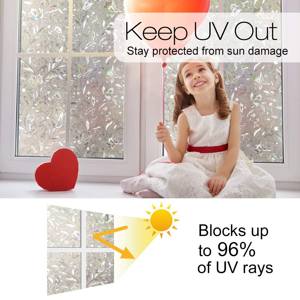 Privacy Window Film 3D Static Decoration Self Adhesive Film for UV Blocking Heat Control Glass Window Stickers 5