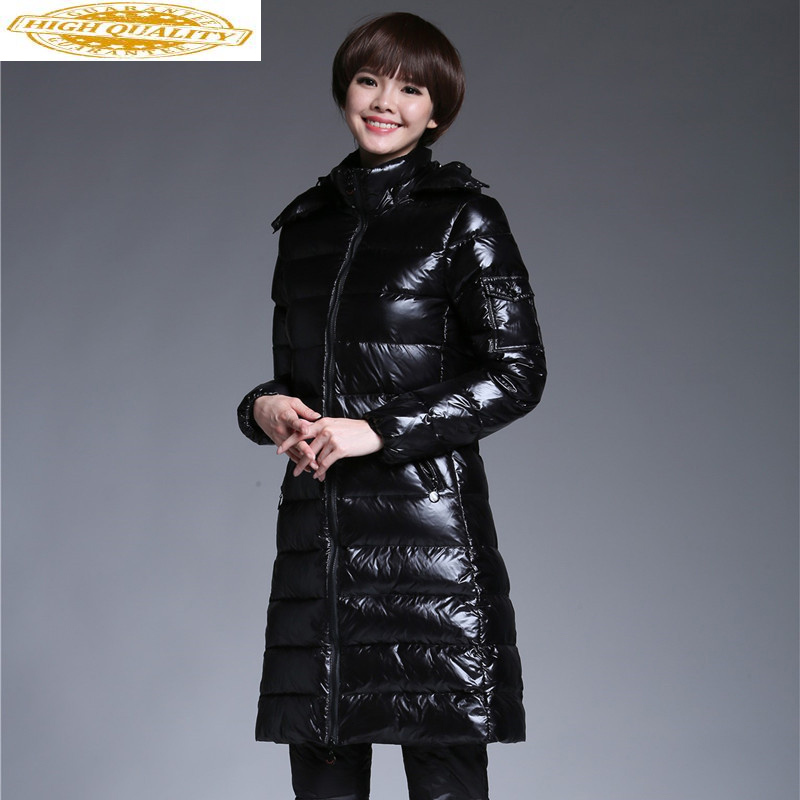 Women's Winter Down Jackets Long Coat Duck Down Jacket Woman Hooded Thick Warm Puffer Jacket Invierno Mujer 2020 KJ2662