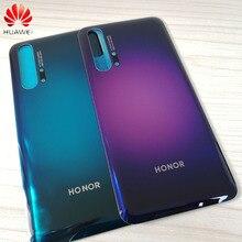 """מקורי חזרה זכוכית כיסוי עבור Huawei Honor 20 פרו 6.26 """"סוללה כיסוי חזרה פנל אחורי זכוכית דלת שיכון מקרה עם דבק"""