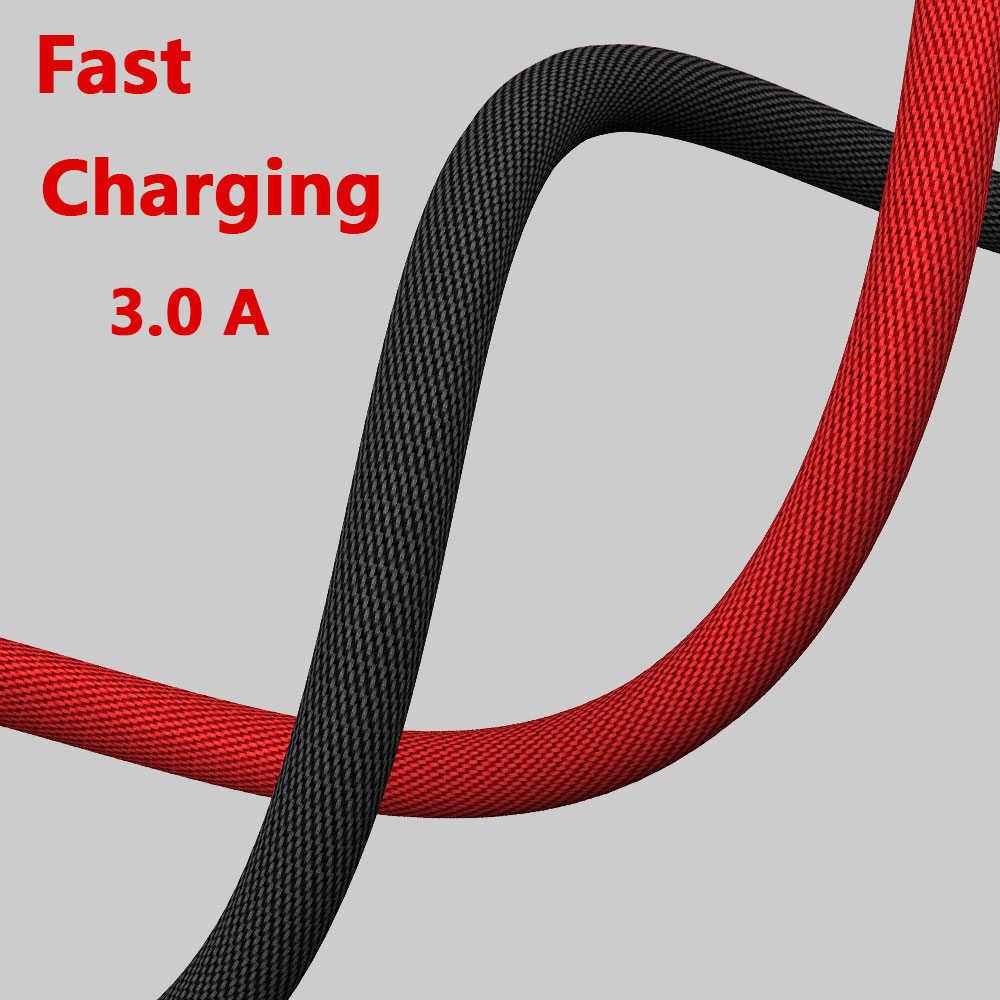 Điện Thoại Di Động Cáp Micro USB Sạc Nhanh Dây Nylon Dệt 90 Độ Dữ Liệu Dây Cáp Cho Huawei P30 Xiaomi Redmi samsung Oppo