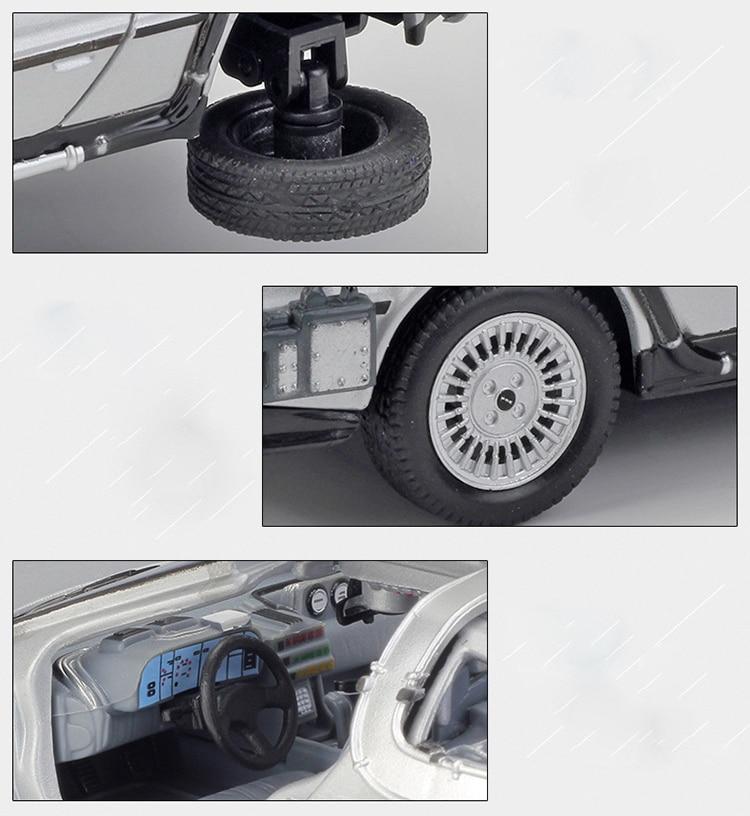 DMC-12 Delorean Back To The Future Time Machine Model Car 13