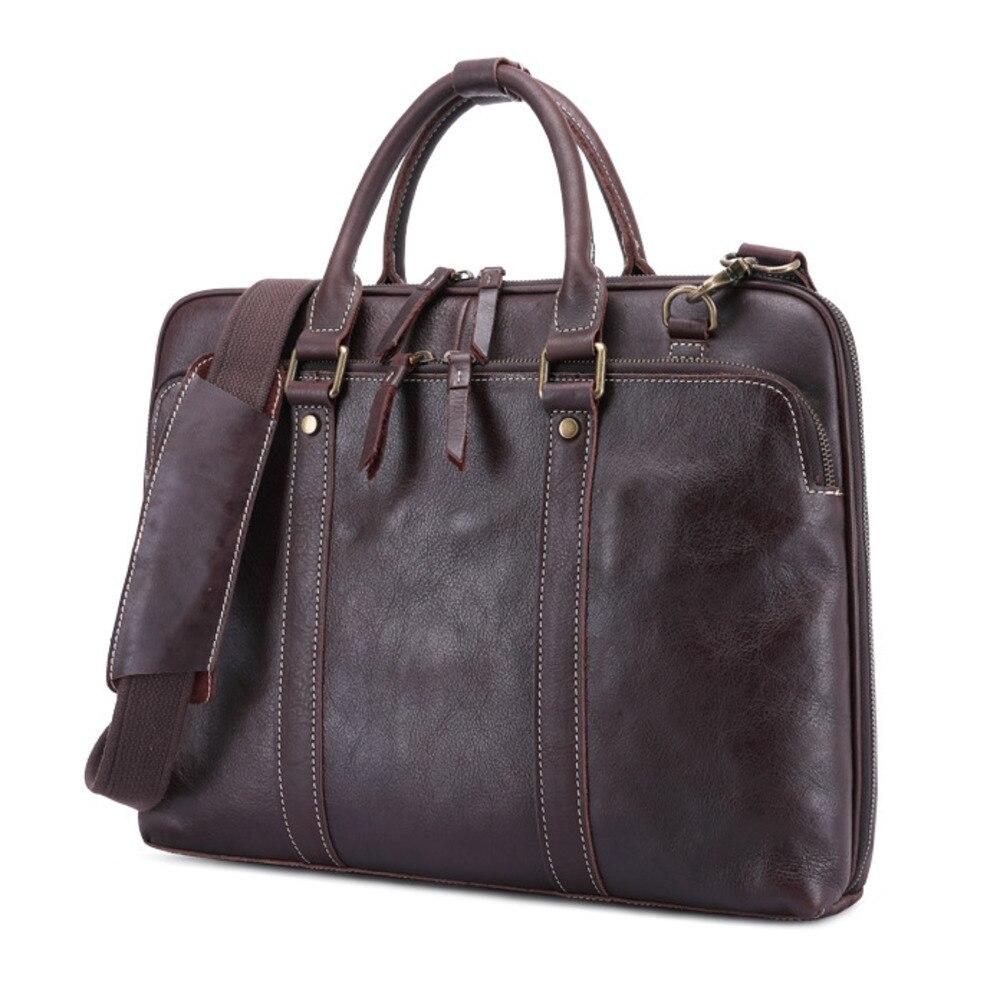 Man Handbag Genuine Messenger Bag Men Leather Briefcase Cowhide Single Shoulder Satchel Package Designer Luxury Free Shipping