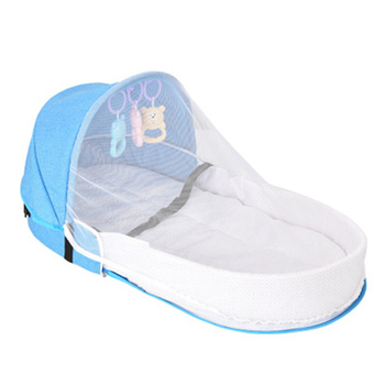 Portable Kids Baby Bed Newborn Baby Foldable Baby Crib Travel Sun Protection Mosquito Net Breathable Sleeping Basket With Toys baby foldable crib travel portable newborn bed sleeping basket bassinet multifunctional portable baby crib with mosquito netting