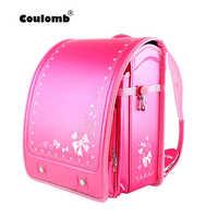 Coulomb, bolsa escolar para niños, mochila ortopédica para niñas, Chico, mochila para estudiantes de escuela, bolsas de libros de Japón PU, bolsas de bebé 2020 nuevas mochila infantil