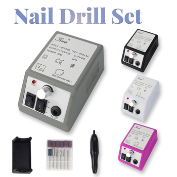Nail Drill Machine Manicure Drill Apparatus For Manicure Pedicure Kit Electric Nail File With Cutter Electric Manicure Drill Set 16pcs set nail clipper cutter file manicure pedicure tool with faux leather case