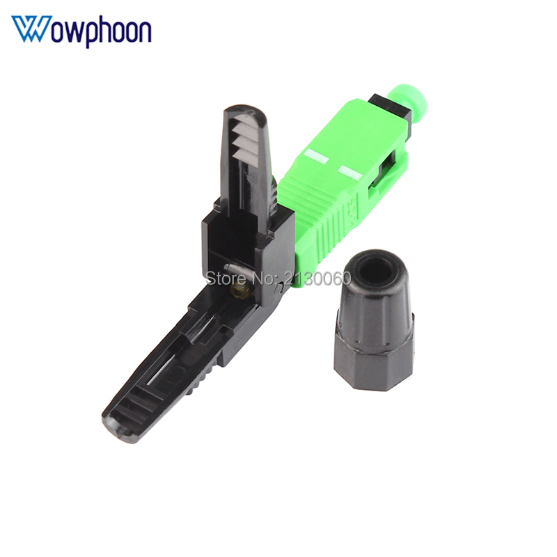 Free Shipping SC APC Fast Connector Embedded Connector FTTH Tool Cold Fiber Fast Connector SC Fiber Optic Connector