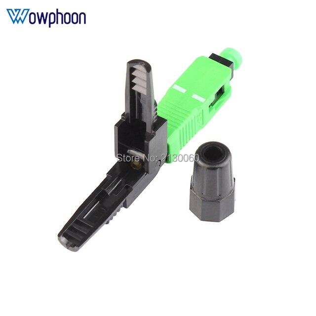 Kostenloser Versand SC APC Schnelle Stecker Embedded Stecker FTTH Werkzeug Kalten Faser Schnelle Stecker SC Fiber Optic Connector