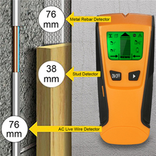 Digital Wall Detector 3 In1 Pinpointer Metal Detectors Wood Studs Finder AC Cable Live Wire Scanner LCD Gold Finder