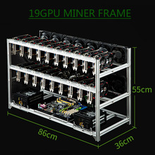 Miner Case Server-Rack Mining Rig BTC Open-Air-Frame Stackable Xmr-Chassis 19-Gpu Bitcon