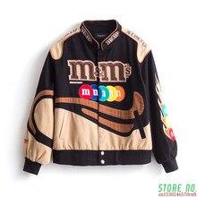 Bordado harajuku remendo plus size casaco 2020 inverno quente jaquetas femininas hip hop outono manga longa jaqueta feminina outwear