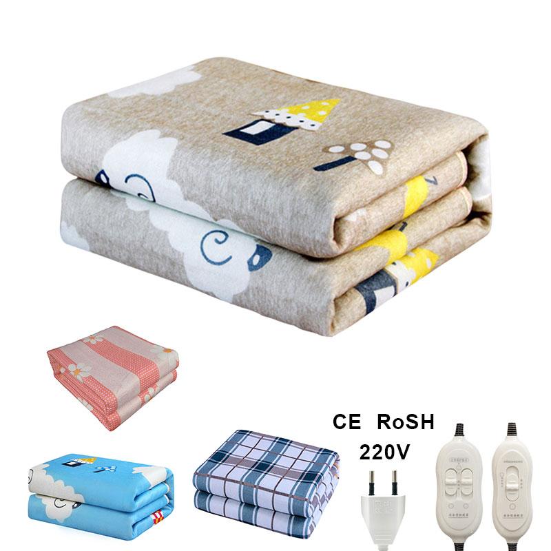 220 В автоматическое электрическое отопление термостат одеяло двойной тела Теплее Кровать Матрас Электрический Подогрев ковры коврик зима ЕС|Электрические нагреватели|   | АлиЭкспресс