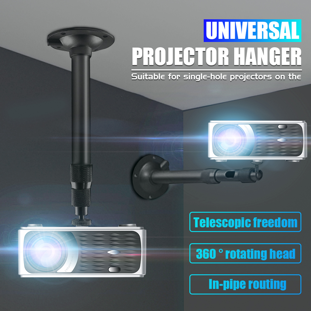 For CP600 Universal Aluminum Alloy Home LCD Projector Ceiling Wall Mount Bracket Holder Stand 400mm Length Projection Accessory