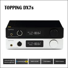 TOPPING DX7s Full Balanced DAC Headphone Amplifier USB DAC ES9038Q2M Amp XMOS XU208 OPA1612 DSD512 Optical Coaxial input стоимость