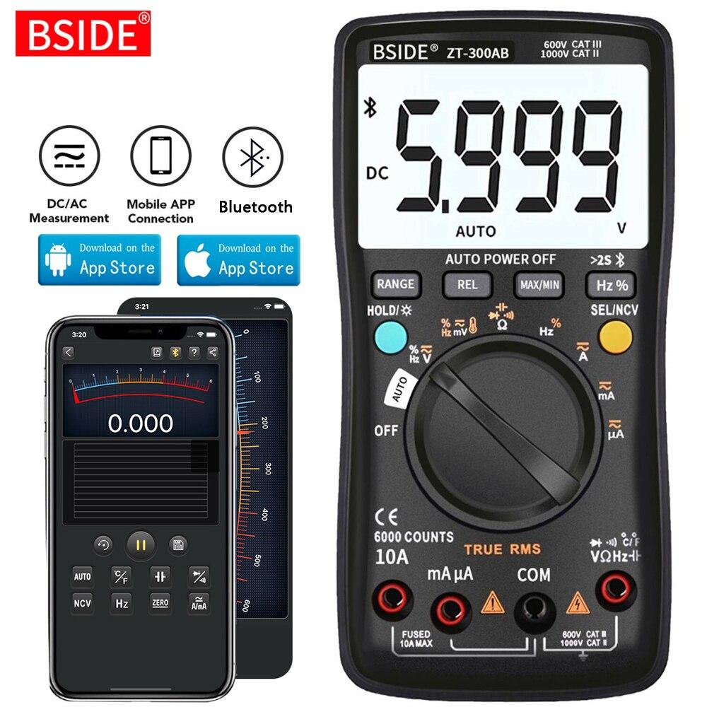 BSIDE Digital multimeter Wireless Technology Ammeter True RMS Auto Rang Intelligent analog Voltmeter Capacitor Tester DIY Tool