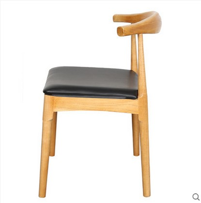 Home Direct Selling Nordic Simple Modern Solid Wood Horn Chair Tea Meal Cafe Hot Pot Shop Milk Tea Shop Dining Tables And Chairs