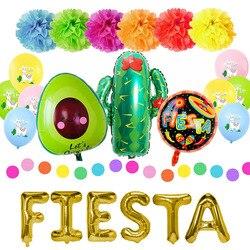 Decorações de festa mexicano fontes de festa colorido llama alpaca cacto fiesta balão banner cacto folha balões feriados