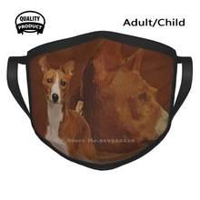 Basenji – masque buccal en coton respirant, pour chien du Congo, Terrier, buisson africain, chien sans aboiement, Ango Angari