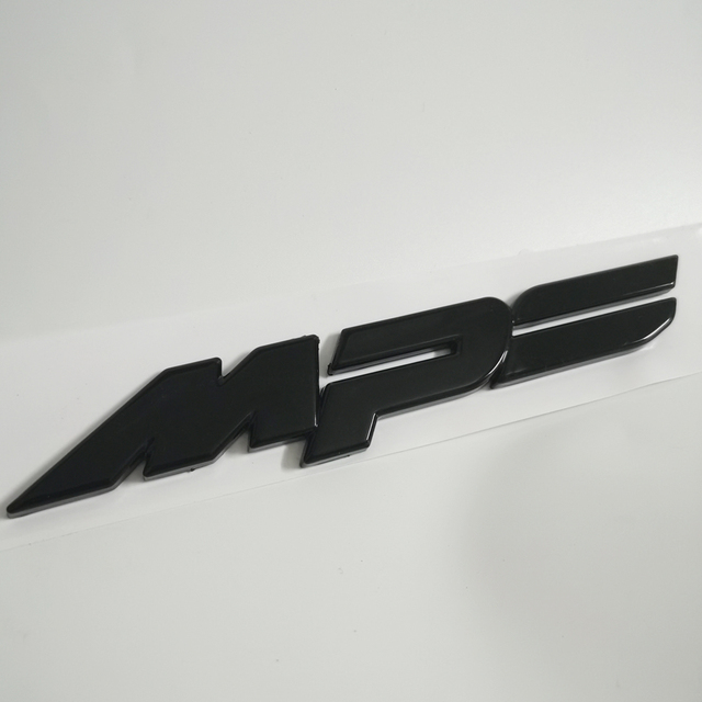 Glanz Schwarz Emblem MPS Stamm Aufkleber Für Mazda 3 6 ATANZE Axela 2,0 S 2,5 S MX 5 CX 5 CX 8 CX 9 RX 8 Mazdaspeed Mazda Aufkleber ABS