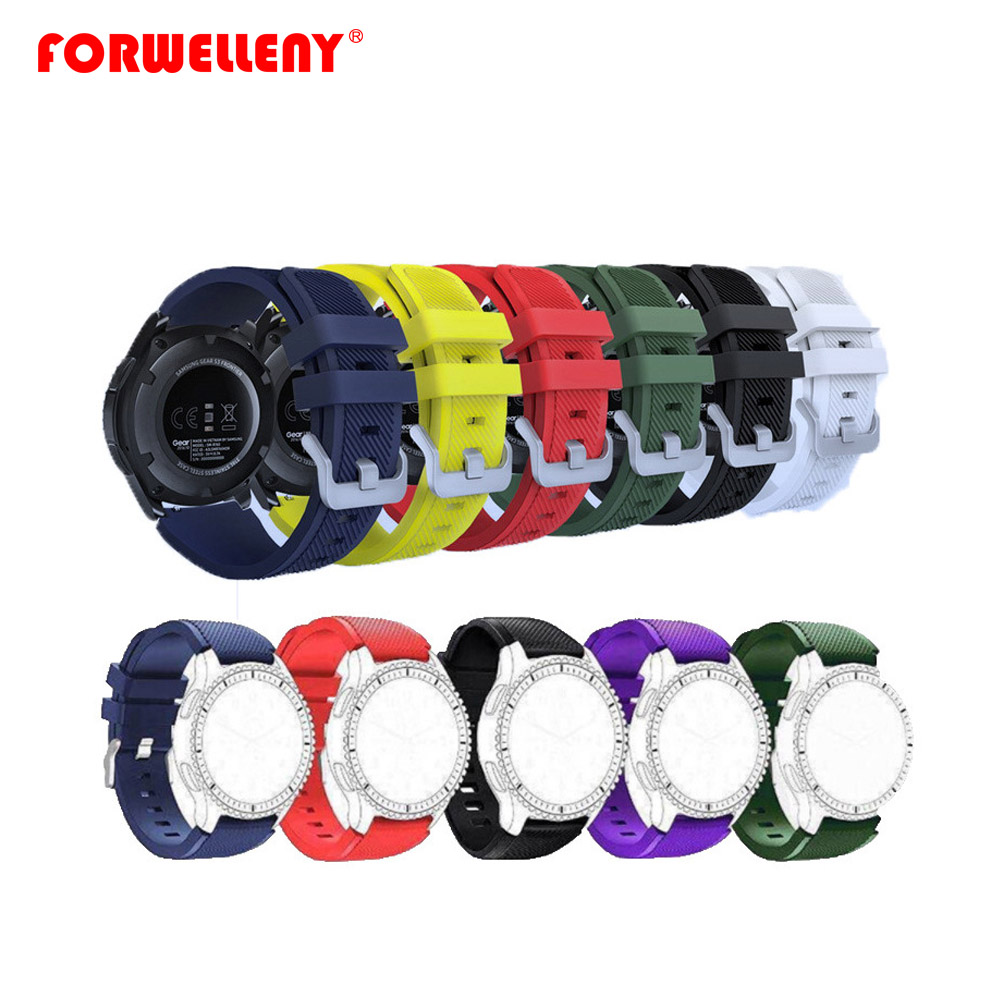Watchbands 22mm Steel Buckle Wrist luxury brand New Fashion Sports Silicone Bracelet Strap Band For Samsung Gear S3