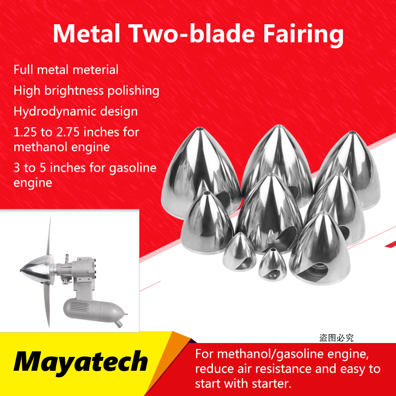 Metal Propeller Cover Aluminum Alloy 2 Blades Propeller Cover Fairing 32/38/45/51/57/64/70/76/82/89/95/102mm For RC 1.25in-4.0in