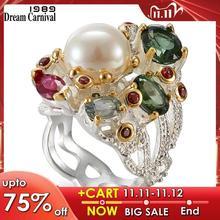 Dreamcarnival 1989 infinity cores série feminino anéis dois tons cores revestidas lindo brilhante zircão jóias do dia wa11693