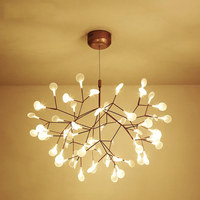 Modern simple Acrylic LED Chandelier Firefly Adjustable Indoor Hanging Light For Living room G4 Lustres Luminaria hanginglamp