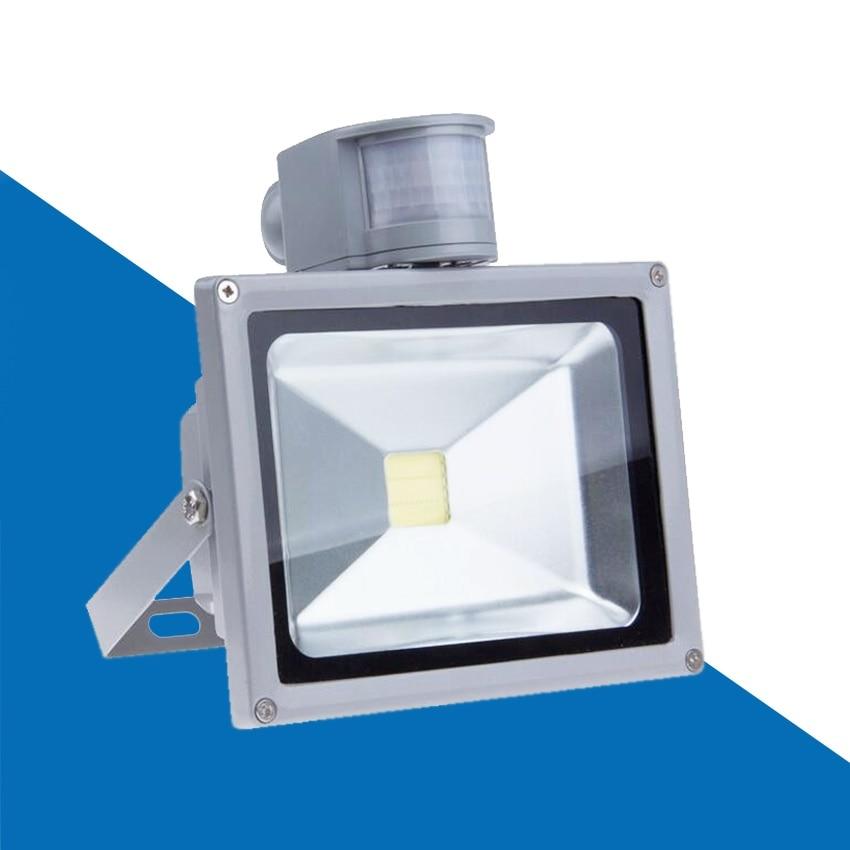 BIRDAY led flood light lamp 50W PIR Motion detective Sensor 110 260V 10W 20W 30W floodlight outside lights with PIR|Floodlights| |  - title=