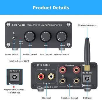 Fosi Audio BT20A Bluetooth Sound Power Amplifier   4