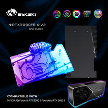 Water-Cooling-Block Graphics-Card Vga Cooler Bykski NVIDIA Founder-Edition N-RTX3090FE-X-V2