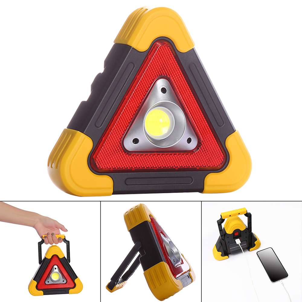 Warning Light Solar Powered Emergency LED Strobe Wireless Flashing Barricade Safety Sign Road Flash Traffic Work Lights