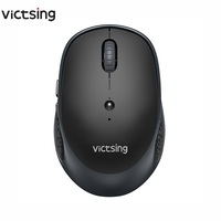 VicTsing 2.4Ghz Wireless Mouse 2400DPI Ajustável Portátil Bluetooth Mouse Multi-dispositivo de Controle de Ratos Para PC Tablet Laptop