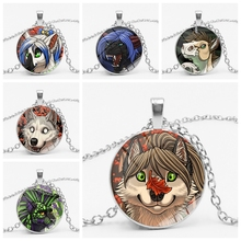 2019 New Cute Cartoon Animal Avatar Custom Necklace Glass Cabochon Accessories Children