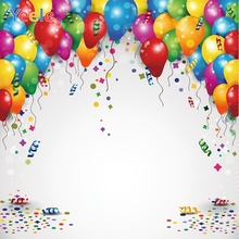 Yeele Colorful Balloons Ribbons Bokeh Birthday Party Decor Child Photography Backgrounds Photographic Backdrops for Photo Studio