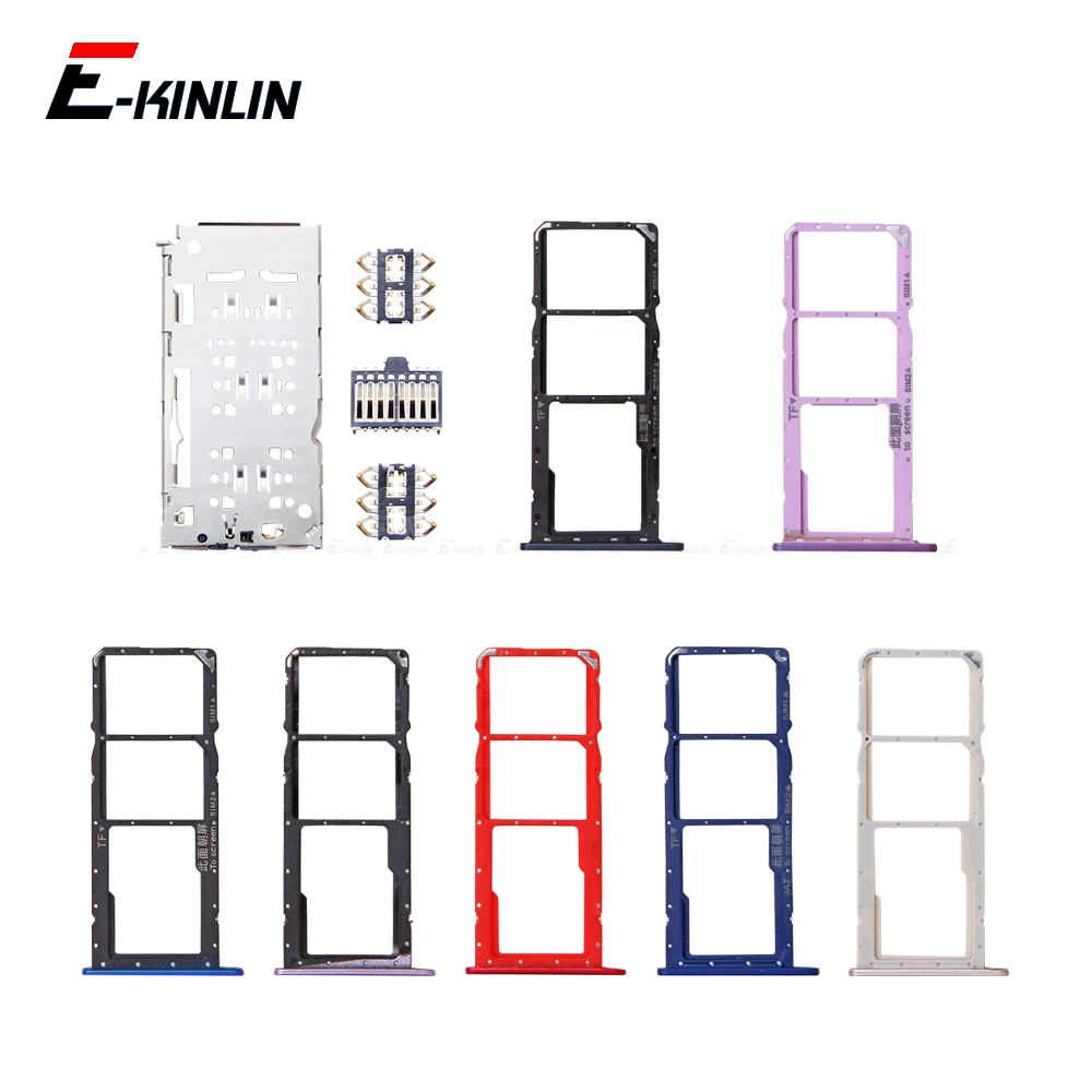Micro SD / Sim Card Tray Socket Adapter For HuaWei Honor 8C 8X 8A Pro Connector Holder Slot Reader Container