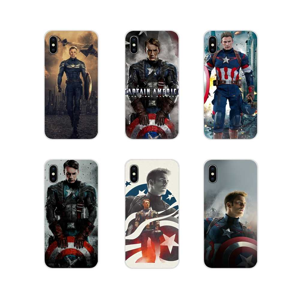 Untuk Apple Iphone X XR X Max 4 4S 5 5S 5 5C Se 6 6S 7 8 plus IPod Touch 5 6 Chris Evans Kapten Amerika Transparan Soft Cover Tas