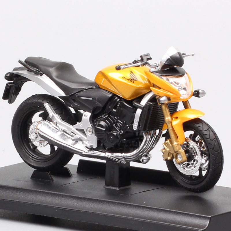 1:18 Scale Mini Welly Classic Honda CB600F Honret 599 Motorcycle Diecasts Vehicles Toy Moto Bike Race For Kid Boys Replicas Gift