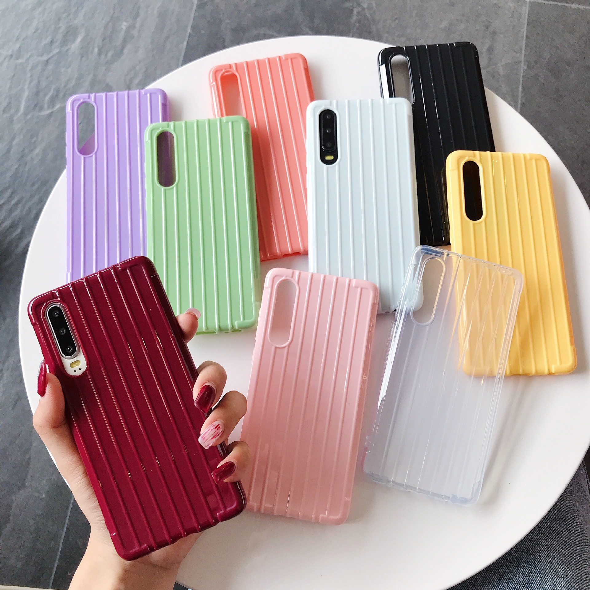 Soft Silicone <font><b>Case</b></font> For <font><b>Samsung</b></font> <font><b>Galaxy</b></font> A30 A20 A10 A60 <font><b>A70</b></font> M10 M20 M40 2019 Note 9 J4 Plus 2018 surface luggage box <font><b>phone</b></font> <font><b>case</b></font> image