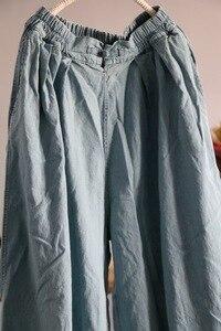 Image 5 - YoYiKamomo デニム女性のパンツ 2018 春夏新作オリジナル弾性ウエストオリジナルジーンズハーレムズボンのファッションパンツ