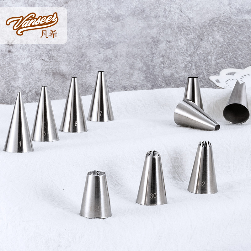 Stainless Steel Mouth Of Piping Device 304 One-piece Stretch Pastry Nozzle Cake Nai You Zui Baking Tool